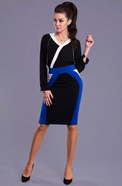 Dámská sukně Y8506 - Emamoda - Modro-černá/S