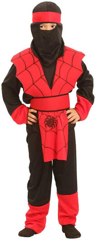 KARNEVAL Šaty NINJA pavouk vel. S (110-120 cm) 4-6 let KOSTÝM