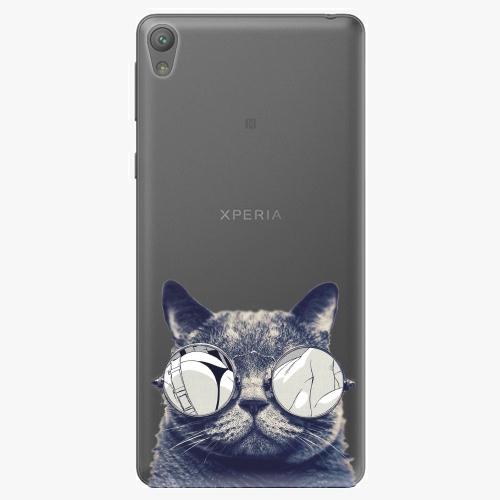 Plastový kryt iSaprio - Crazy Cat 01 - Sony Xperia E5
