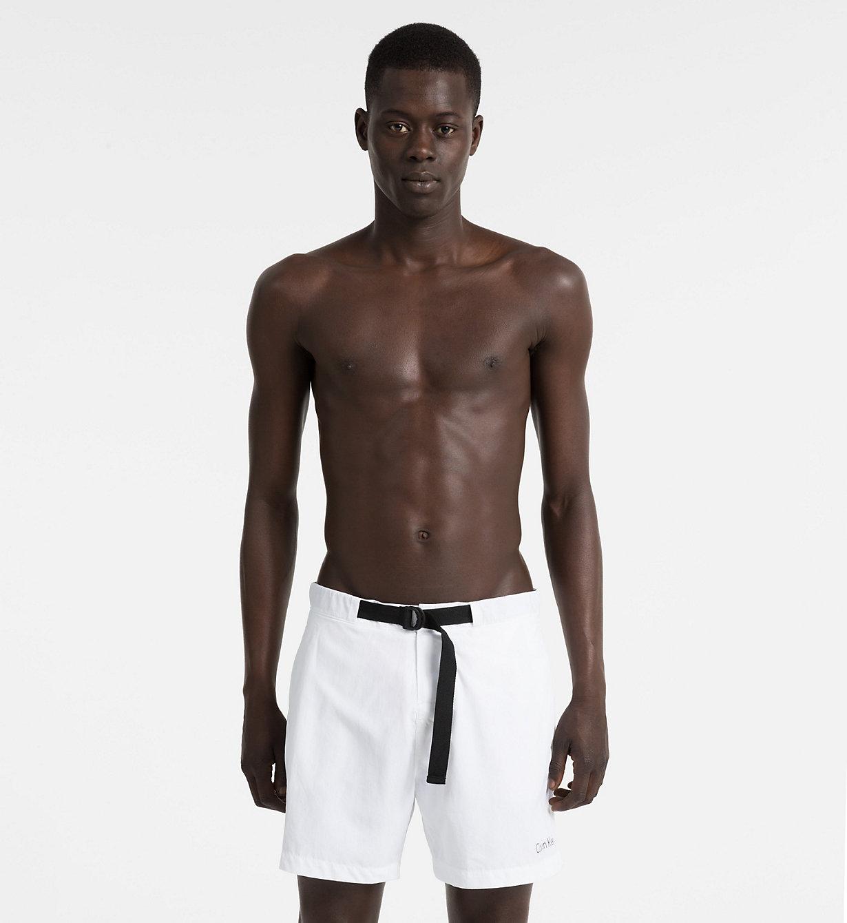 Pánské plavky KM0KM00172 - Calvin Klein - Bílá/L