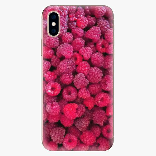 Silikonové pouzdro iSaprio - Raspberry - iPhone XS