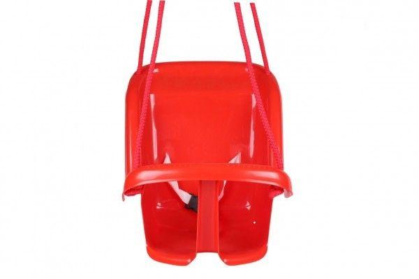 Plastová houpačka, červená, nosnost 20kg, 24m+