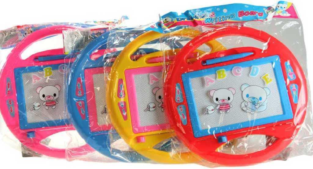 Tabulka 15x10cm kreslící plastová 4 barvy set volant s perem v sáčku