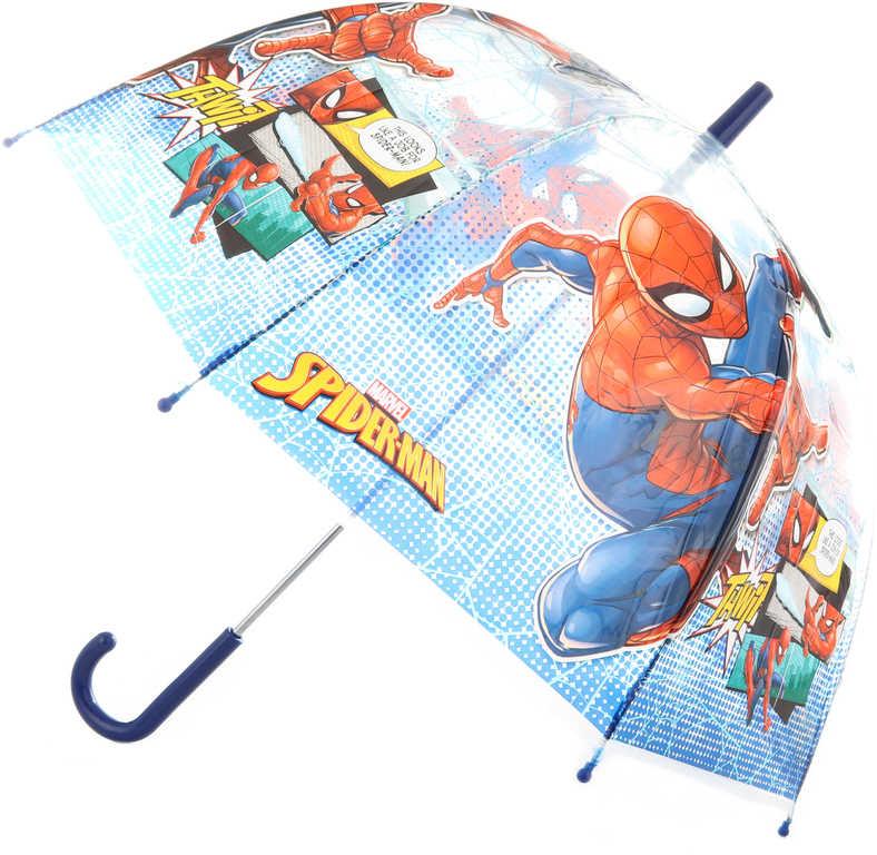 Deštník dětský Spiderman 70x70x69cm průhledný manuální