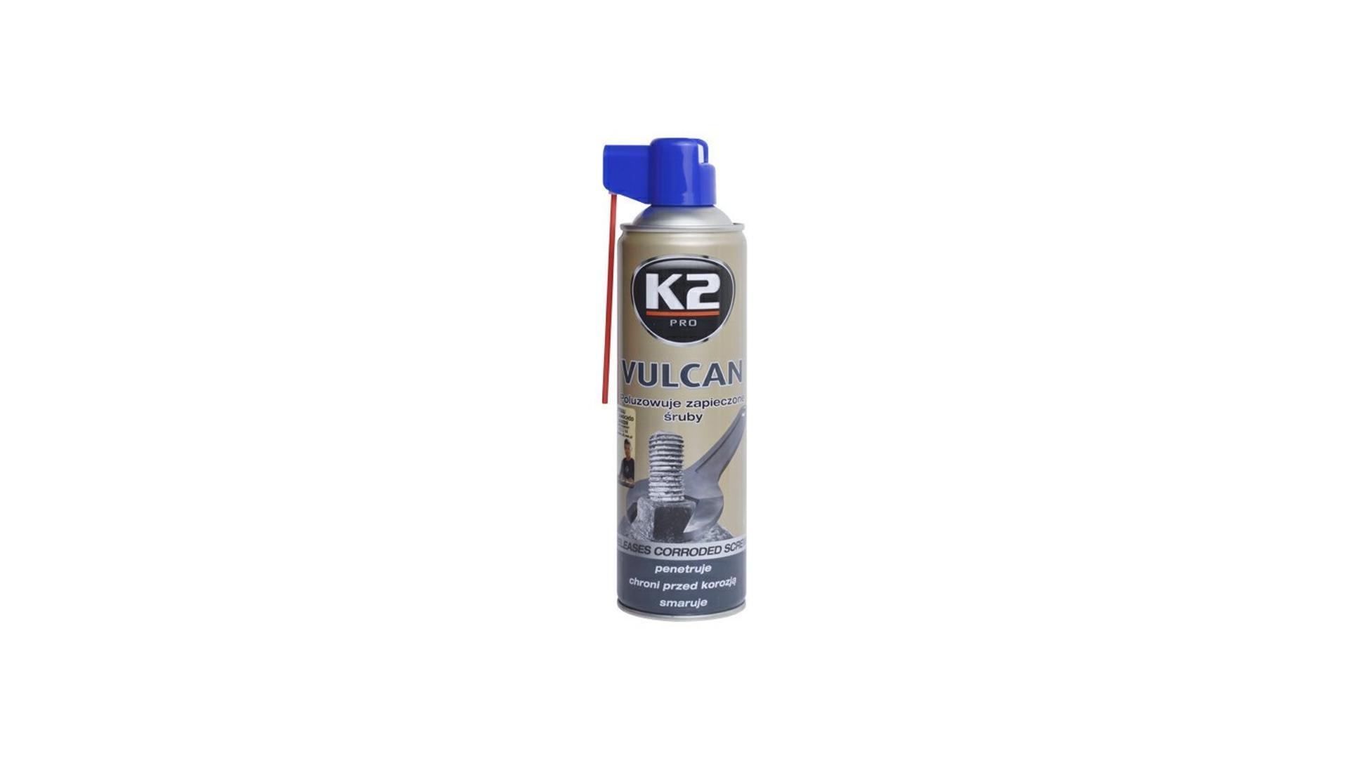 K2 VULCAN 500ml - přípravek na uvolňování zarezlých spojů (MOS2 s Graphitem a Cerflonem)