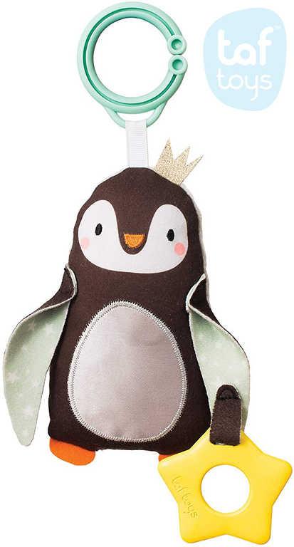 TAF TOYS Baby tučňák Prince závěsné chrastítko a kousátko pro miminko