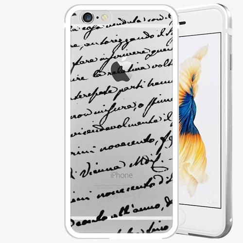 Plastový kryt iSaprio - Handwiting 01 - black - iPhone 6/6S - Silver