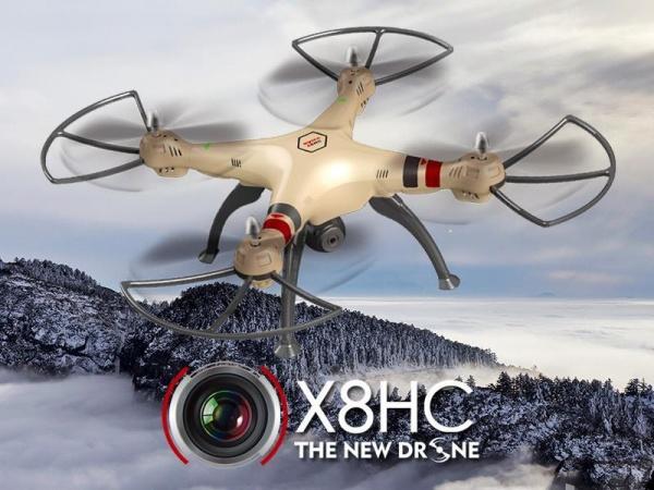 SYMA X8HC HD kamera + barometr + 15 minut letu