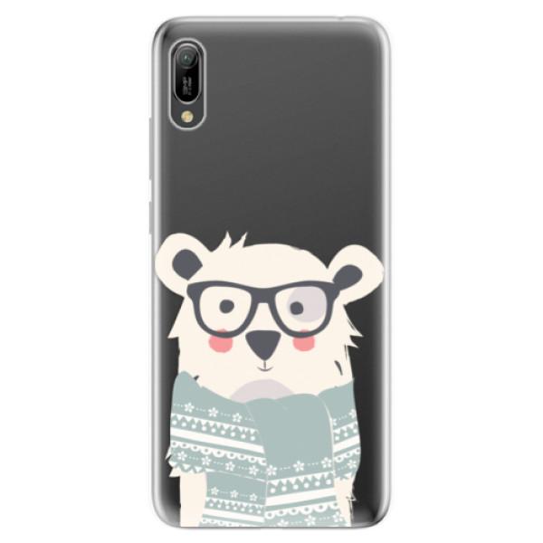 Odolné silikonové pouzdro iSaprio - Bear with Scarf - Huawei Y6 2019