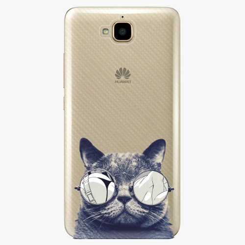Plastový kryt iSaprio - Crazy Cat 01 - Huawei Y6 Pro