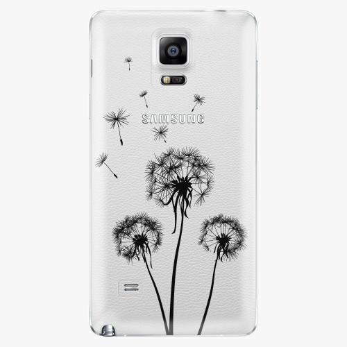 Plastový kryt iSaprio - Three Dandelions - black - Samsung Galaxy Note 4