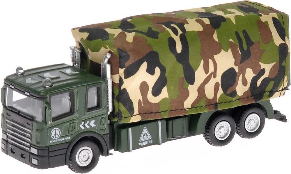 Auto vojenské nákladní 15cm na baterie zpětný chod - 2 druhy
