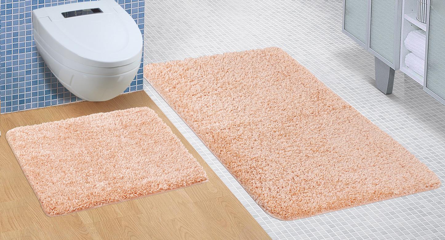 Koupelnová sada předložek Micro 60x100+60x50cm lososová