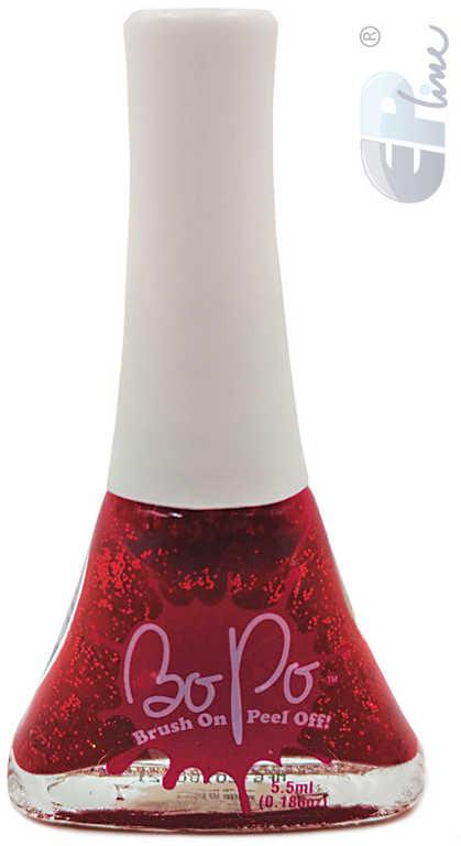 EP Line BO-PO Lak na nehty slupovací tmavě červený se třpytkami Sparkles