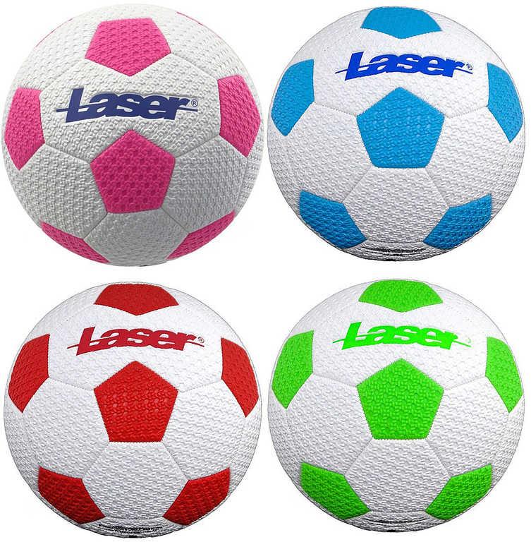 Míč kopačák fotbaloý balon s potiskem Laser na kopanou vel. 5 4 barvy