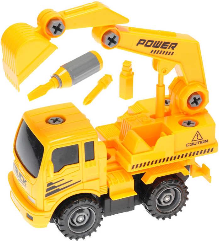 Auto stavební 18 cm na setrvačník šroubovací set s nástroji - 2 druhy