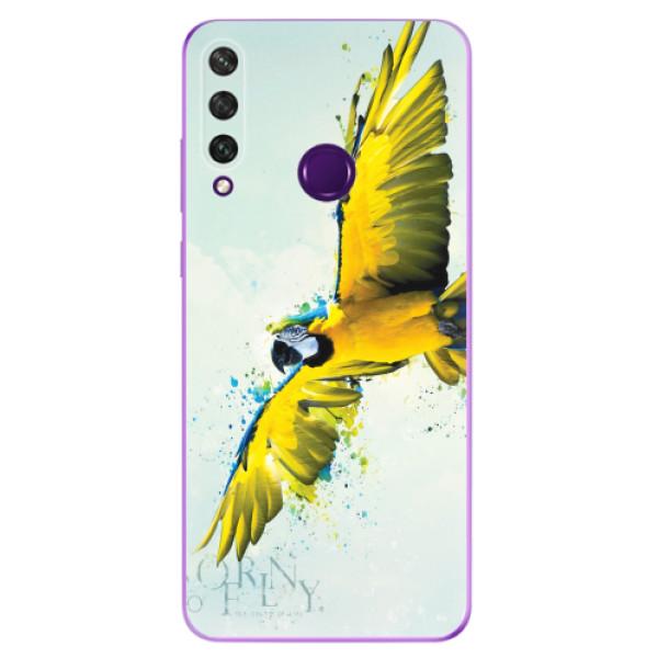 Odolné silikonové pouzdro iSaprio - Born to Fly - Huawei Y6p