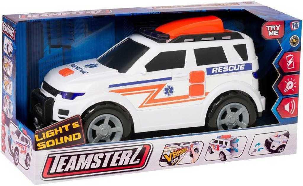 Teamsterz auto jeep záchranářský 34cm ambulance na baterie Světlo Zvuk