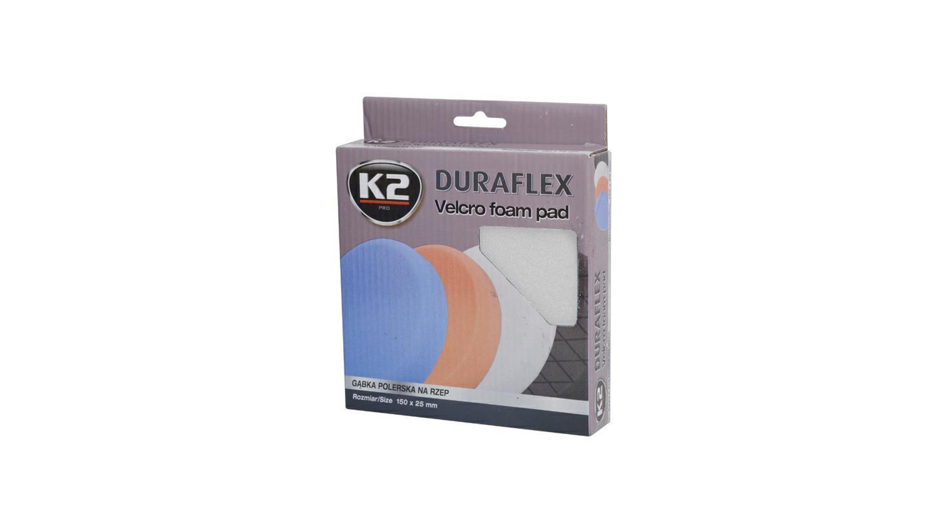 K2 Duraflex náhradní leštící houba 150x25mm BÍLÁ