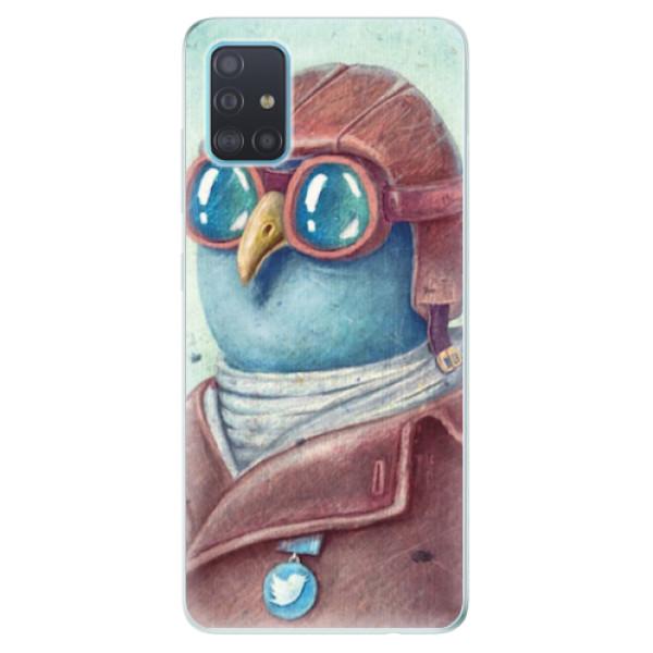 Odolné silikonové pouzdro iSaprio - Pilot twitter - Samsung Galaxy A51