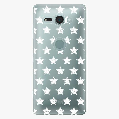 Plastový kryt iSaprio - Stars Pattern - white - Sony Xperia XZ2 Compact