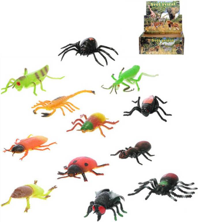 Hmyz strečový 8-13 cm zvířátko - 12 druhů