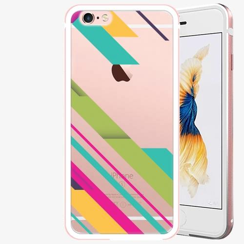 Plastový kryt iSaprio - Color Stripes 03 - iPhone 6 Plus/6S Plus - Rose Gold
