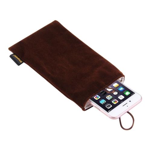 Univerzální pouzdro / kapsa na mobil Flanel Haweel - tmavě hnědá