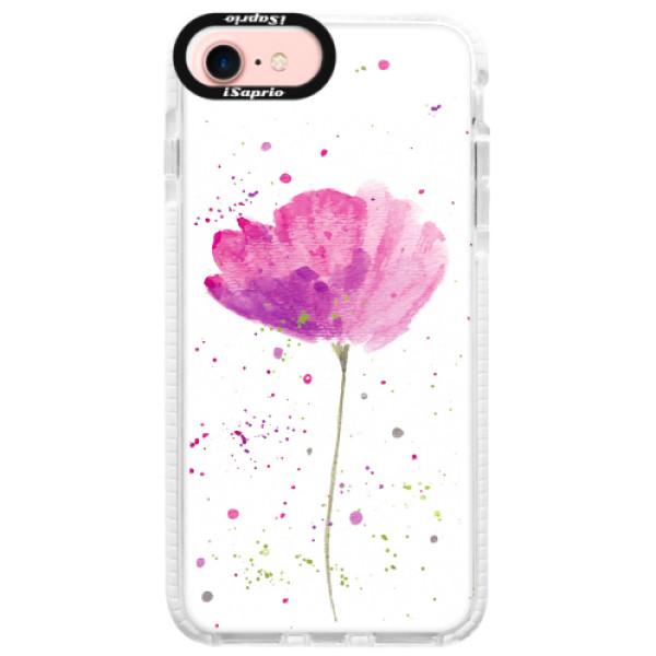 Silikonové pouzdro Bumper iSaprio - Poppies - iPhone 7