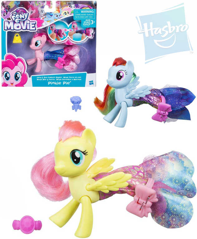 HASBRO MLP Poník kloubový My Little Pony 3 druhy proměn set s doplňkem 3 druhy