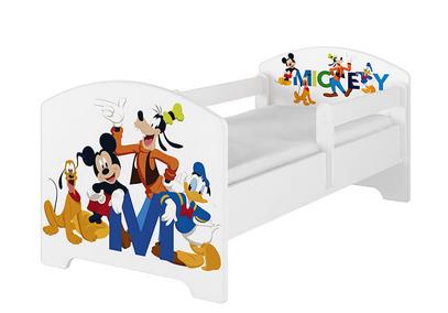 BabyBoo Dětská postel Disney - Mickey s kamarády - bílá, s
