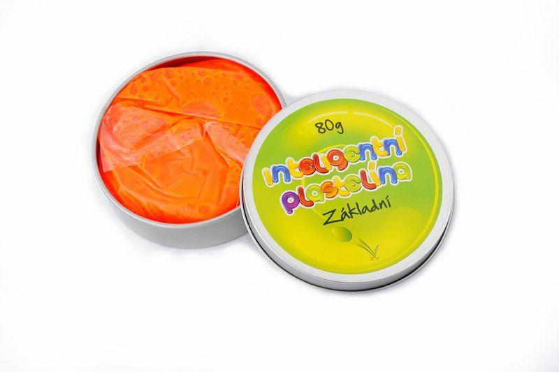 Inteligentní plastelína - základní - oranžová