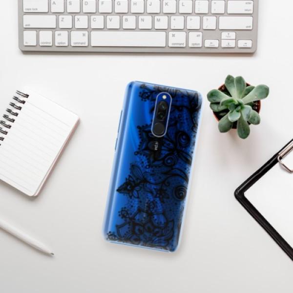 Plastové pouzdro iSaprio - Black Lace - Xiaomi Redmi 8