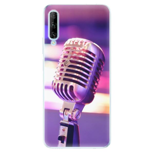 Odolné silikonové pouzdro iSaprio - Vintage Microphone - Huawei P Smart Pro