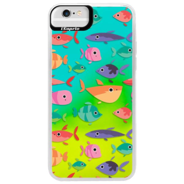 Neonové pouzdro Blue iSaprio - Fish pattern 01 - iPhone 6 Plus/6S Plus
