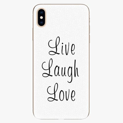 Plastový kryt iSaprio - Live Laugh Love - iPhone XS Max