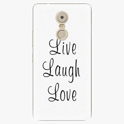 Plastový kryt iSaprio - Live Laugh Love - Lenovo K6 Note