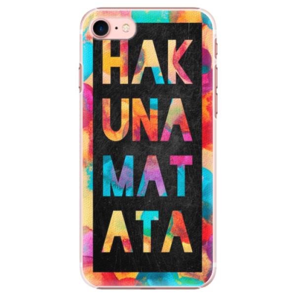 Plastové pouzdro iSaprio - Hakuna Matata 01 - iPhone 7