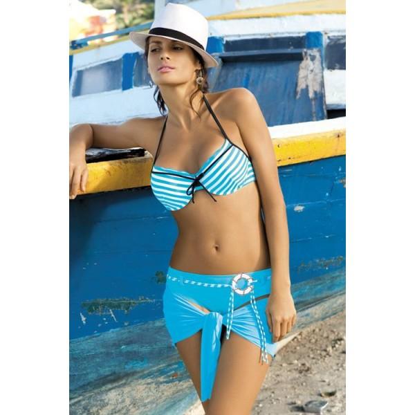 Dámské plavky Monica M149 - Verano - Bílo/sv.modrá/38