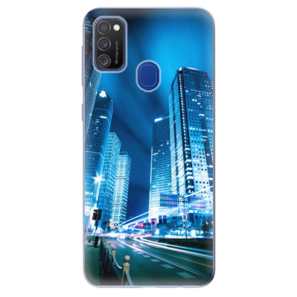 Odolné silikonové pouzdro iSaprio - Night City Blue - Samsung Galaxy M21