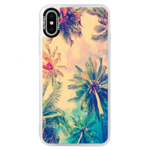 Neonové pouzdro Blue iSaprio - Palm Beach - iPhone XS