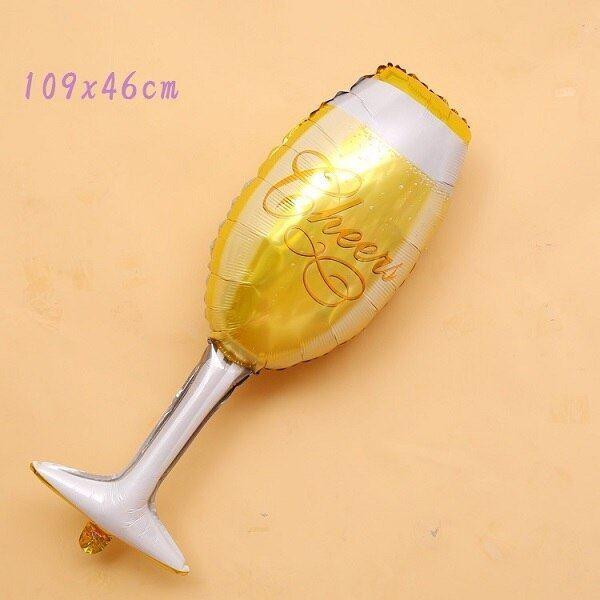 Fóliový balónek - sektová sklenička