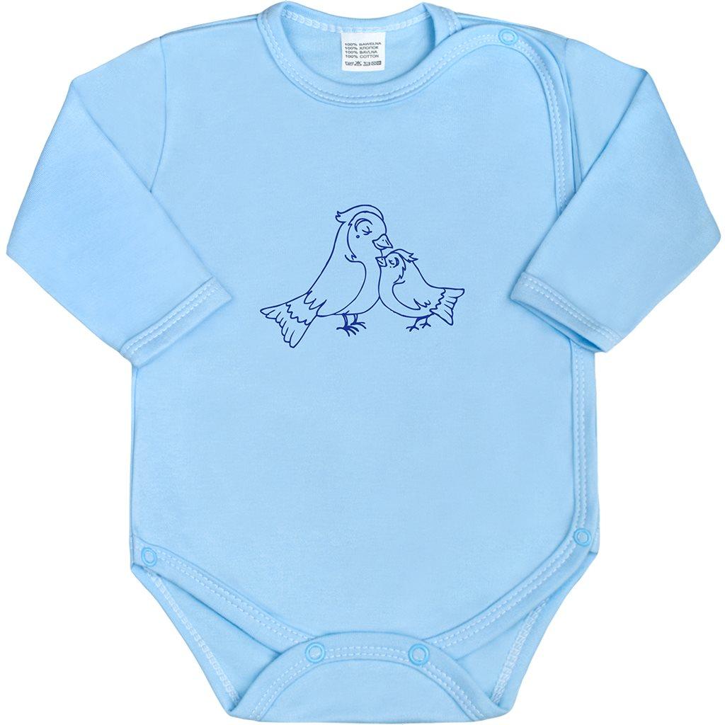 Kojenecké body celorozepínací New Baby Malá Zvířátka - modrá/62 (3-6m)