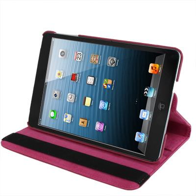 Kožený kryt / pouzdro Smart Cover Rotation pro iPad Mini 1 / 2 / 3 růžový