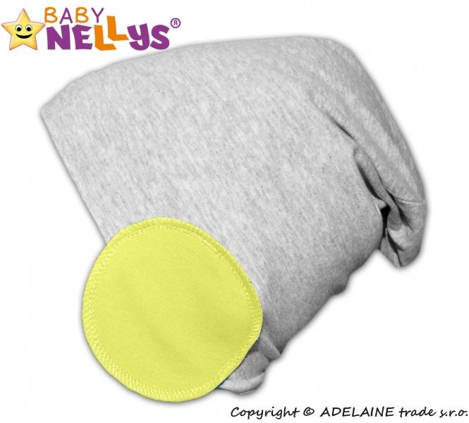 Bavlněná čepice Bubble - lemon - 48/50 čepičky obvod