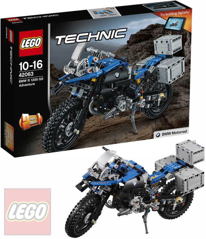 LEGO TECHNIC BMW R 1200 GS Adventure 42063 STAVEBNICE