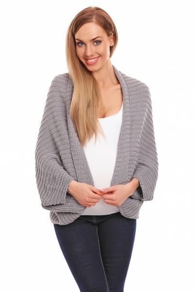 Be MaaMaa Volný těhotenský kardigan - šedý - UNI