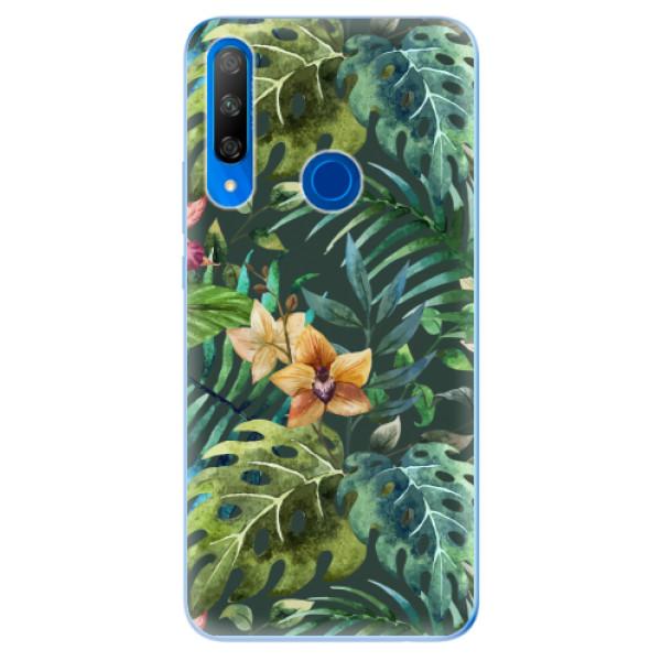 Odolné silikonové pouzdro iSaprio - Tropical Green 02 - Huawei Honor 9X