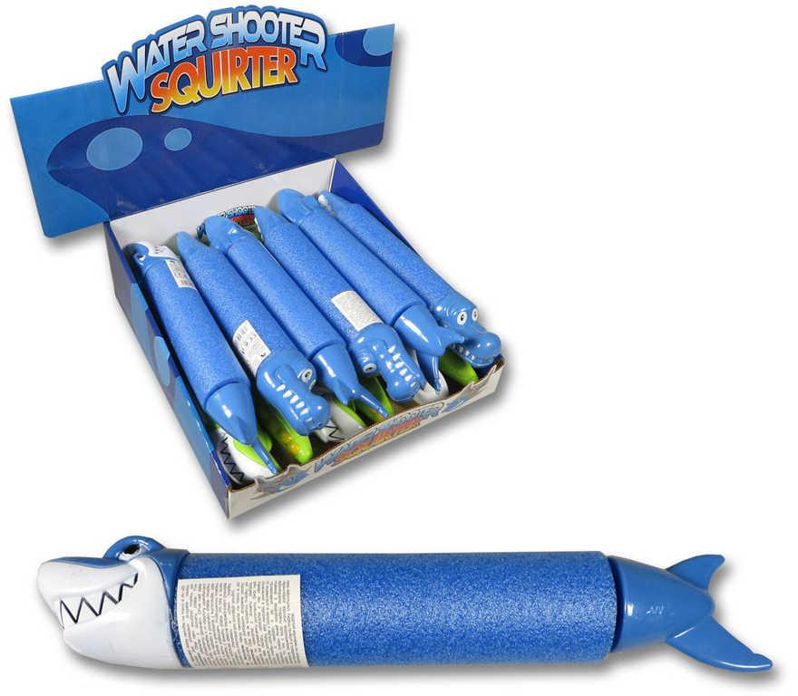 Pistole vodní soft pěnová stříkací na vodu zvířátko 2 druhy 2 barvy