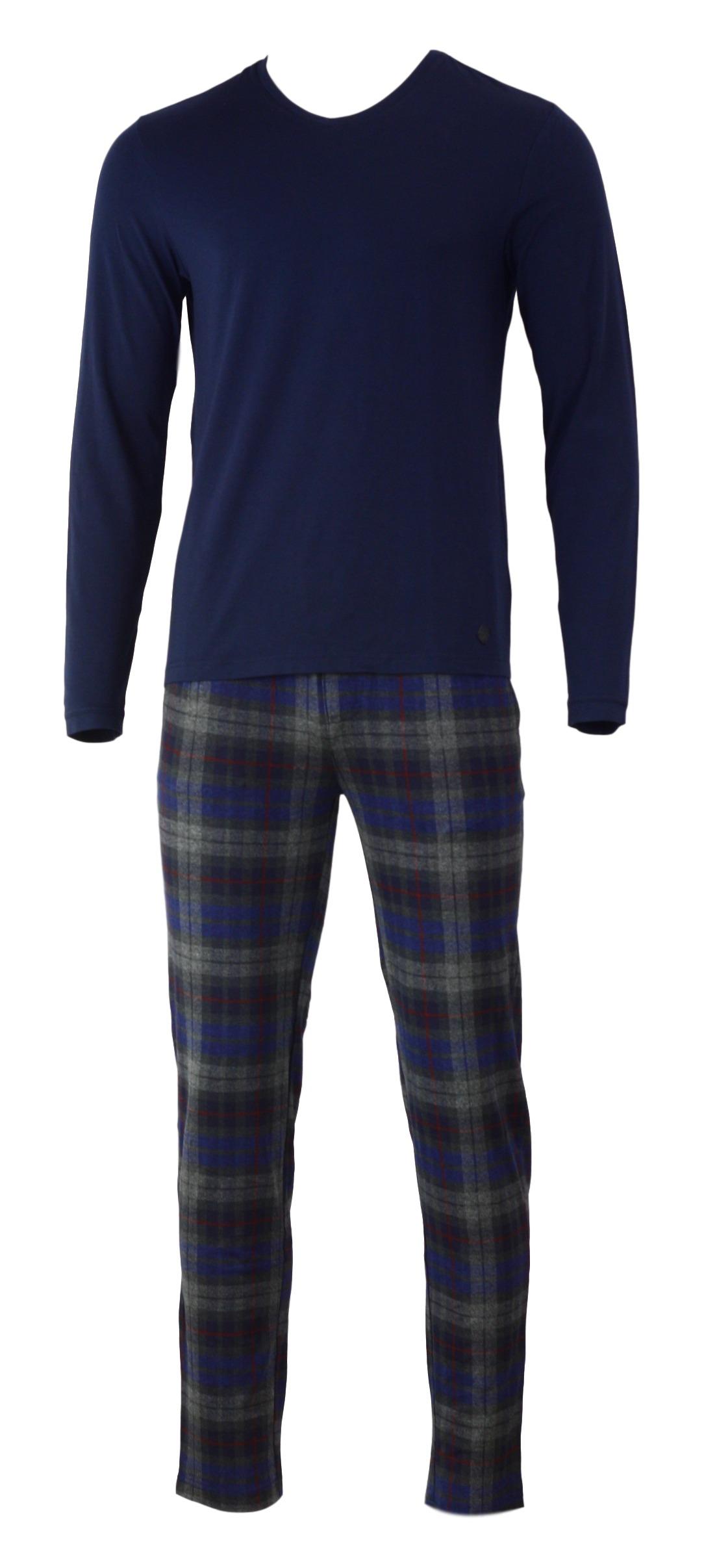 Pánské pyžamo 540023 - Jockey - Modro-šedá/L